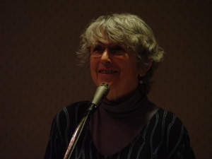 Tanya at the 2008 Poet's Dinner